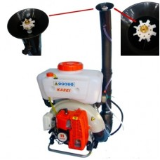 Atomizzatore spalleggiato KASEI 3WF-16 - 63.5cc - ideale per trattamenti zanzara tigre, kit polveri incluso + OMAGGIO FLACONE OLIO MIX 100% SINTETICO DA 1 LITRO
