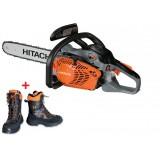 Motosega HITACHI CS33EDP multifunzione sramatura, potatura,  taglio + OMAGGIO scarponi antitaglio HITACHI