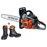"""Motosega professionale HITACHI CS51EAP (45S) - 3.26HP - barra 45cm(18"""") catena .325"""" + OMAGGIO scarponi antitaglio HITACHI"""