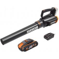 "Nuovo soffiatore a batteria WORX WG547E batteria 20V litio 2.0Ah tecnologia ""TURBINE"" - leggero ed efficace"